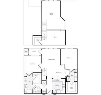 1,247 sq. ft. B6.2 floor plan