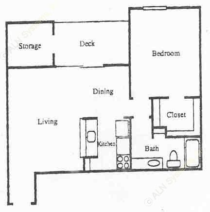 771 sq. ft. A5 floor plan