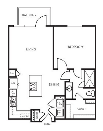 673 sq. ft. A1.1 floor plan