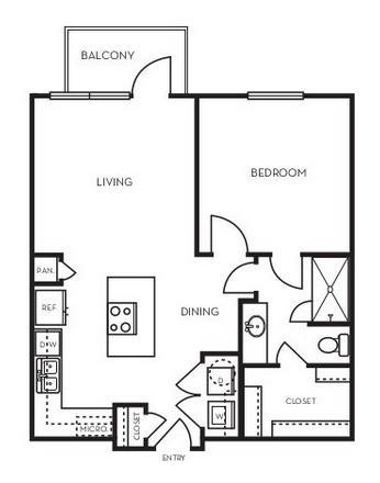 673 sq. ft. A1.1 floor plan