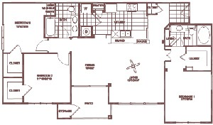 1,302 sq. ft. Grand Oak floor plan