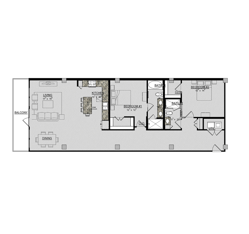 1,602 sq. ft. Begonia floor plan