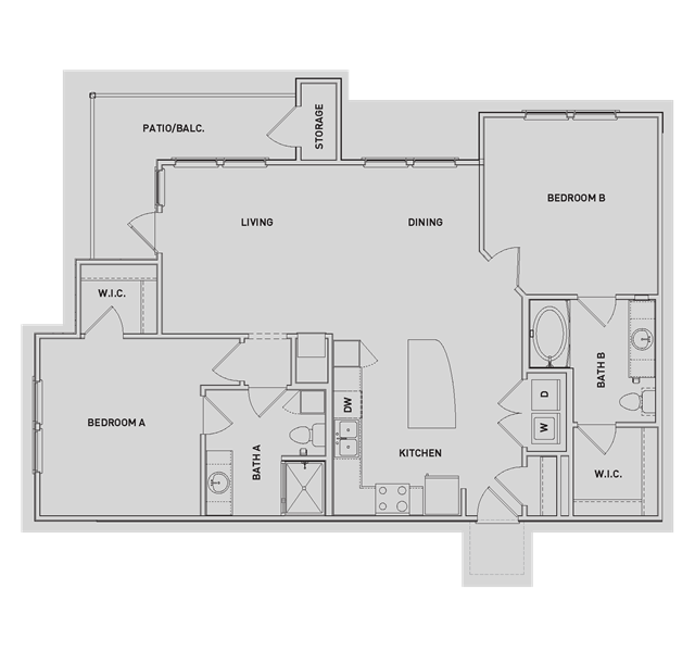 1,189 sq. ft. B4-B floor plan