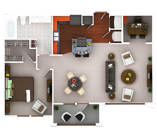 902 sq. ft. A8.1 floor plan