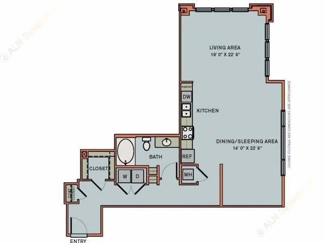 941 sq. ft. 3S8 floor plan