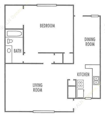 752 sq. ft. floor plan