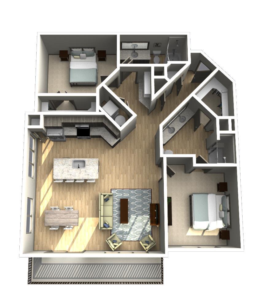 1,319 sq. ft. B6 floor plan