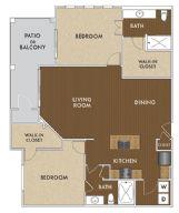 1,245 sq. ft. Morrison floor plan