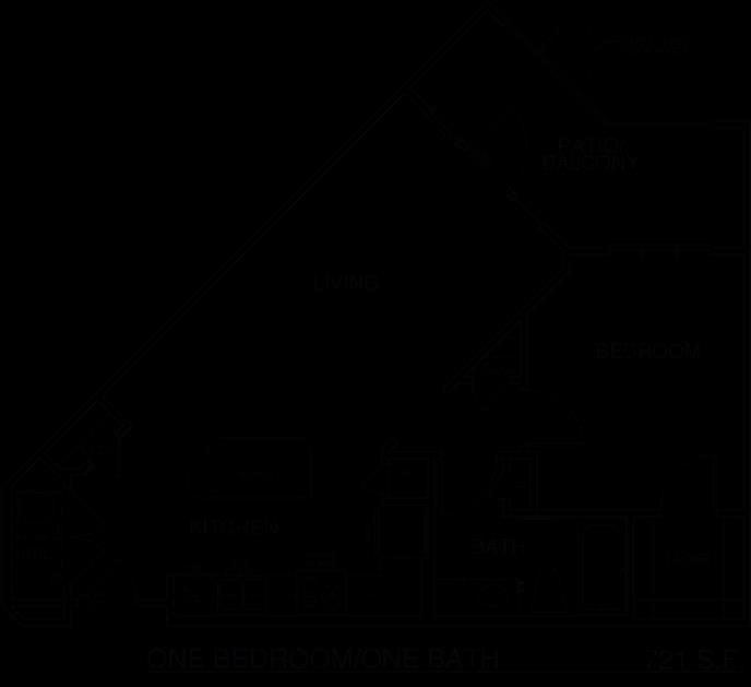 721 sq. ft. A7/60% floor plan