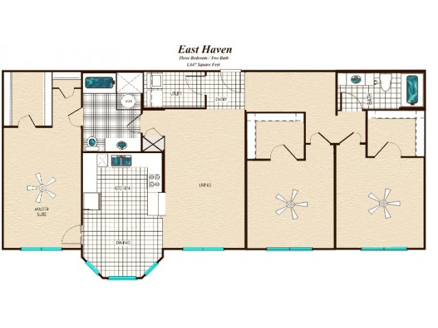 1,647 sq. ft. floor plan