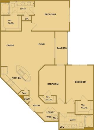 1,421 sq. ft. E5 floor plan