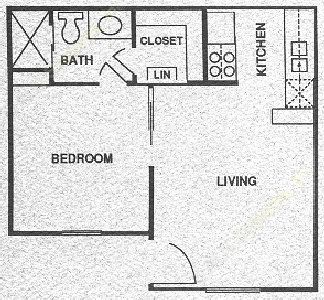 400 sq. ft. PHASE I floor plan
