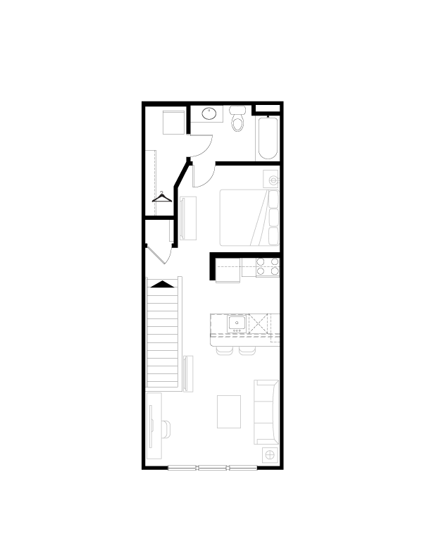 623 sq. ft. floor plan