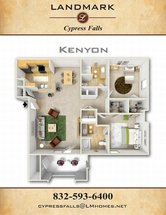 1,156 sq. ft. Kenyon floor plan
