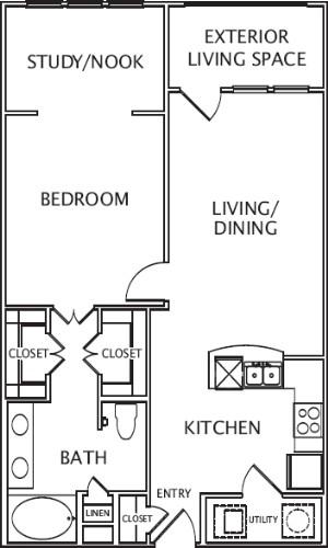 925 sq. ft. Belita floor plan