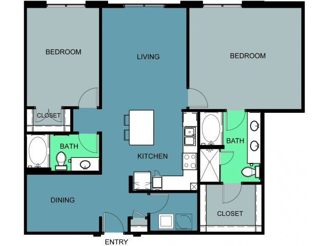 1,465 sq. ft. Ridglea floor plan