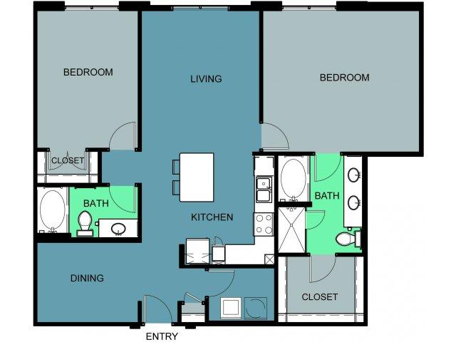 1,465 sq. ft. Ridglea floor plan