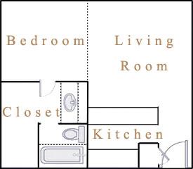 473 sq. ft. S2 floor plan