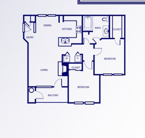 930 sq. ft. D/DERBYSHIRE floor plan