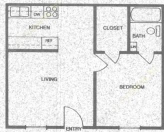 453 sq. ft. A1 floor plan