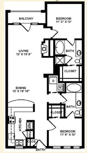 1,570 sq. ft. B2Q floor plan