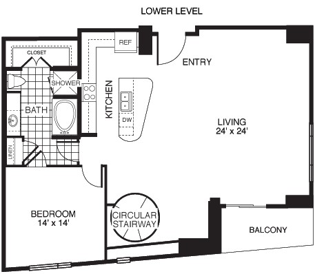 1,988 sq. ft. Ambitious/Tower floor plan