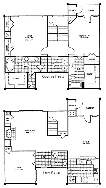 1,822 sq. ft. B4 floor plan