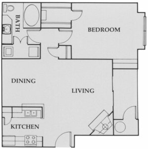 753 sq. ft. City Walk:A3 floor plan