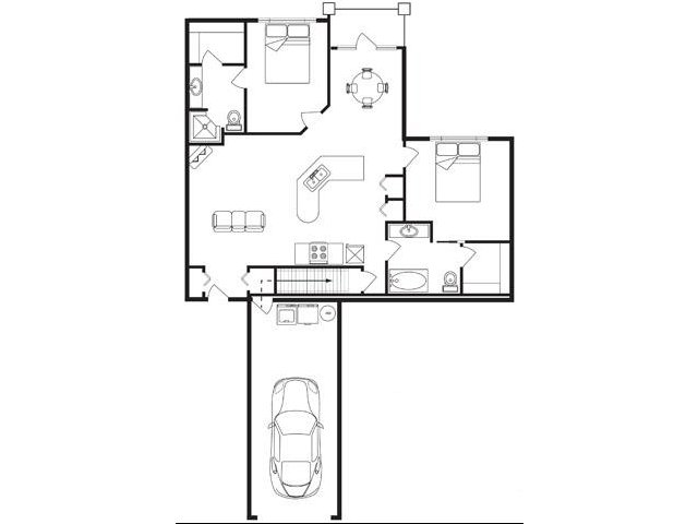 1,092 sq. ft. floor plan