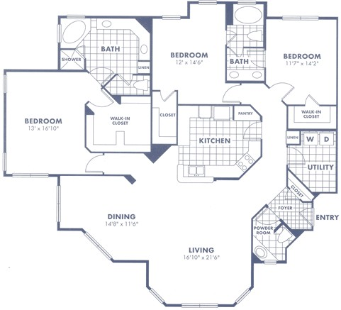 2,134 sq. ft. C2 floor plan