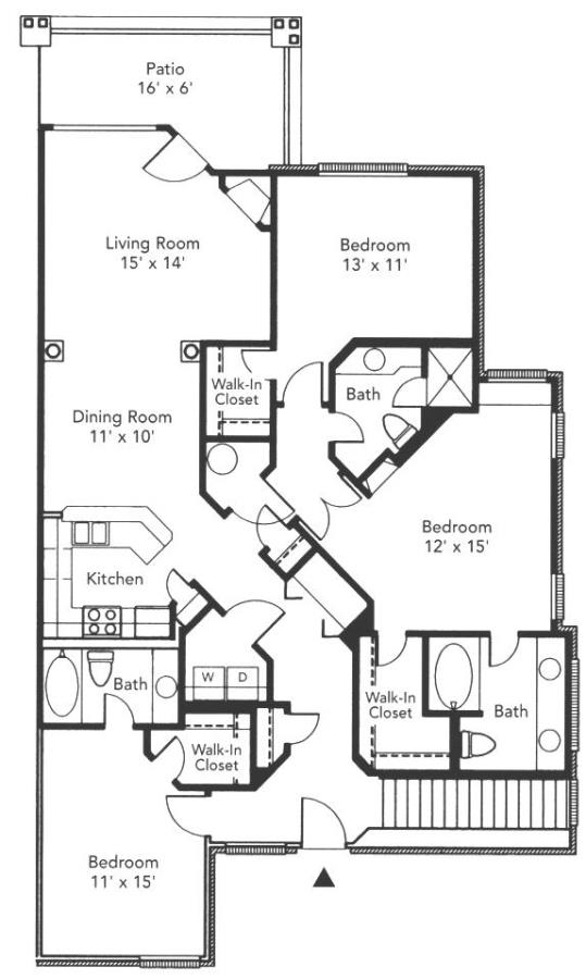 1,560 sq. ft. to 1,562 sq. ft. Green floor plan