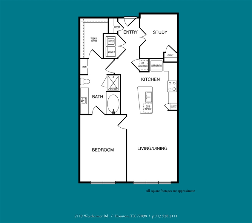 931 sq. ft. to 969 sq. ft. A10 floor plan