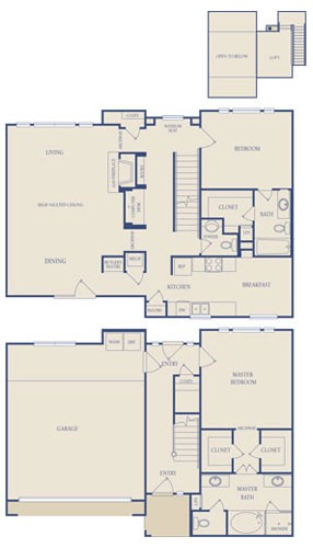 1,885 sq. ft. C2 floor plan