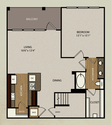 1,034 sq. ft. A4a floor plan
