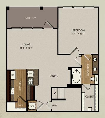 1,034 sq. ft. A4a floor plan