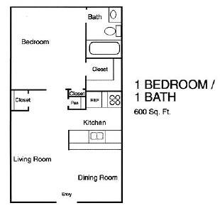 550 sq. ft. floor plan