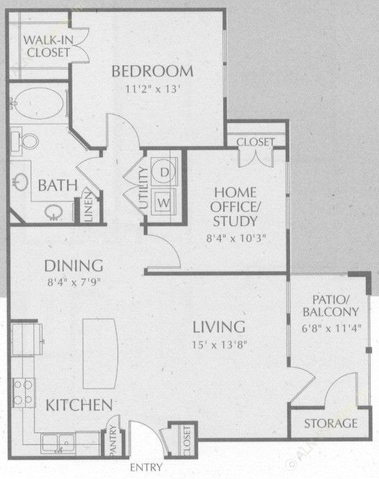 874 sq. ft. Colorado floor plan