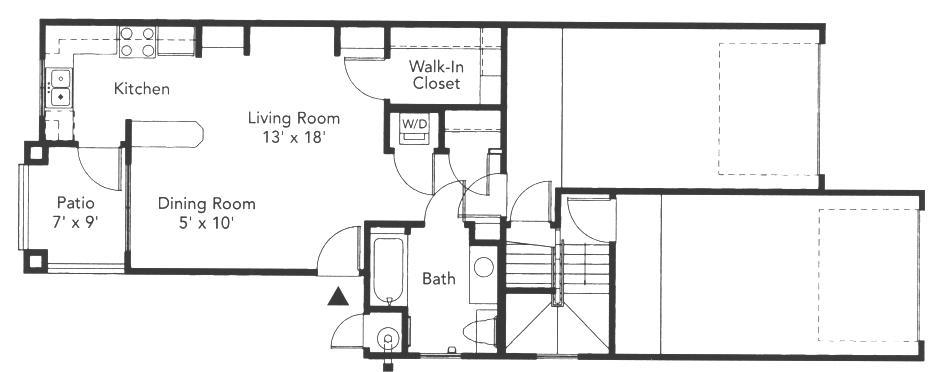 519 sq. ft. Aspen floor plan