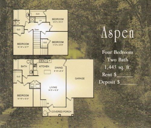 1,445 sq. ft. Aspen/30% floor plan
