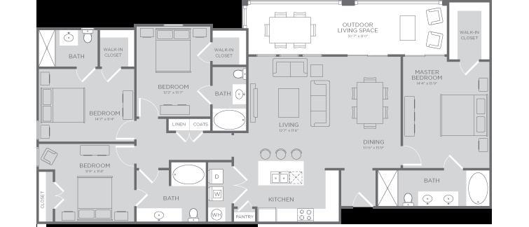 1,851 sq. ft. Starfish floor plan