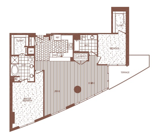 1,666 sq. ft. L floor plan