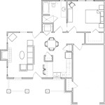 1,130 sq. ft. B floor plan