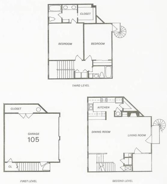1,526 sq. ft. 105 Try-Level floor plan