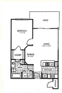675 sq. ft. A1/60% floor plan