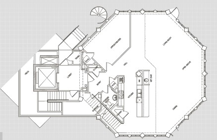 3,703 sq. ft. Tower floor plan