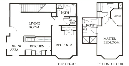 1,079 sq. ft. Emerald floor plan