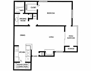 672 sq. ft. A4 floor plan