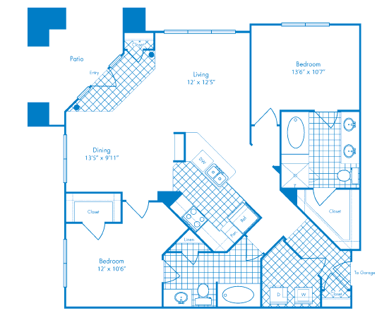 1,259 sq. ft. to 1,276 sq. ft. San Juan floor plan