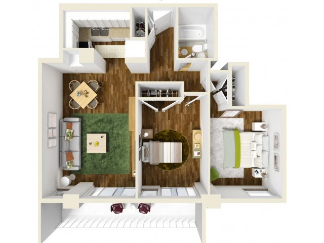 777 sq. ft. floor plan