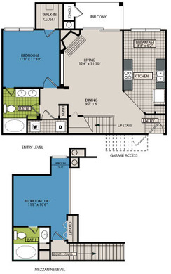 1,063 sq. ft. C2 floor plan